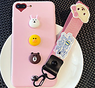 cheap -Case For Apple iPhone 6 Plus iPhone 7 Plus Pattern Back Cover Cartoon Soft Silicone for iPhone 8 Plus iPhone 8 iPhone 7 Plus iPhone 7