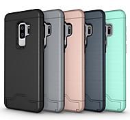 abordables -Funda Para Samsung Galaxy S9 S9 Plus Soporte de Coche con Soporte Armadura Funda Trasera Color sólido Armadura Dura ordenador personal