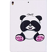 cheap -Case For Apple iPad 10.5 iPad (2017) Card Holder Wallet with Stand Pattern Auto Sleep/Wake Up Full Body Cases Panda Hard PU Leather for