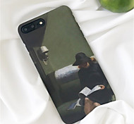 cheap -Case For Apple iPhone X iPhone 7 Plus Pattern Back Cover Oil Painting Hard PC for iPhone X iPhone 8 Plus iPhone 8 iPhone 7 Plus iPhone 7