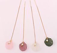 cheap -Women's Imitation Pearl Drop Earrings - Simple Fashion European White Pink Dark Purple Dark Green Shell Earrings For Causal