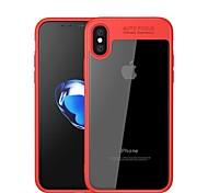 Недорогие -Кейс для Назначение Apple iPhone X iPhone 8 Зеркальная поверхность Прозрачный Кейс на заднюю панель Сплошной цвет Мягкий Силикон для