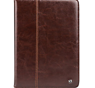 cheap -Case For Apple iPad mini 4 Shockproof with Stand Flip Full Body Cases Solid Color Hard Genuine Leather for iPad Mini 4