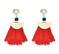 cheap -Women's Drop Earrings Tassel Bohemian Colorful Crystal Alloy Line Jewelry Black Fuchsia Red Blue Daily Holiday Costume Jewelry