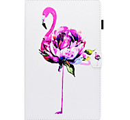 cheap -Case For Samsung Galaxy Tab E 9.6 Card Holder with Stand Flip Pattern Full Body Cases Flamingo Hard PU Leather for Tab E 9.6