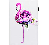 Недорогие -Кейс для Назначение SSamsung Galaxy Tab E 9.6 Бумажник для карт со стендом Флип С узором Чехол Фламинго Твердый Кожа PU для Tab E 9.6