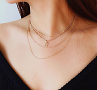 cheap -Women's Colorful Choker Necklace - Simple Casual Colorful Fashion Music Notes Necklace For Gift Daily Prom Club Street