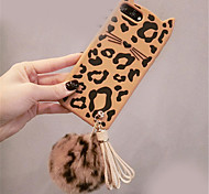 cheap -Case For Apple iPhone 6 Plus iPhone 7 Plus Pattern Back Cover Leopard Print Soft Silicone for iPhone 8 Plus iPhone 8 iPhone 7 Plus iPhone
