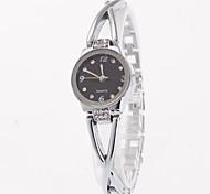 cheap -Women's Quartz Bracelet Watch Chinese Imitation Diamond Casual Watch Alloy Band Fashion Silver Gold