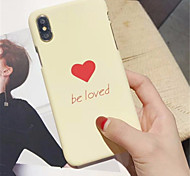 cheap -Case For Apple iPhone X / iPhone 7 Plus Pattern Back Cover Heart Hard PC for iPhone X / iPhone 8 Plus / iPhone 8