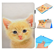 cheap -Case For Apple iPad 10.5 iPad Pro 9.7 Card Holder with Stand Flip Pattern Auto Sleep/Wake Up Full Body Cases Cat Hard PU Leather TPU for