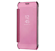 cheap -Case For Samsung Galaxy A8 2018 A8 Plus 2018 Mirror Auto Sleep/Wake Up Full Body Cases Solid Colored Hard PC for A5(2018) A7(2018)
