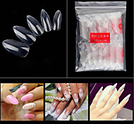 cheap -1set nail art False Nail Tips Stylish Transparent Best Quality Daily Sets