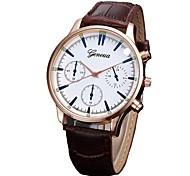 cheap -Men's Quartz Dress Watch Fashion Watch Chinese Chronograph PU Band Elegant Black Brown