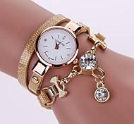 preiswerte -Damen Quartz Armband-Uhr Chinesisch Imitation Diamant Armbanduhren für den Alltag PU Band Freizeit Modisch Schwarz Weiß Blau Rot Braun