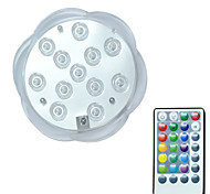 cheap -BRELONG® 1pc 3W 12leds Underwater Lights Remote Controlled Waterproof Decorative Swimming pool RGB 5.5V