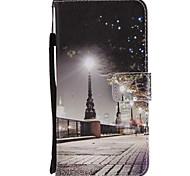 Недорогие -Кейс для Назначение Huawei Mate 10 Mate 10 lite Бумажник для карт Кошелек со стендом Флип Магнитный Чехол Вид на город Твердый Кожа PU для