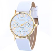 cheap -Women's Quartz Fashion Watch Chinese Large Dial PU Band Casual Fashion Black White Blue Brown Rose Gold