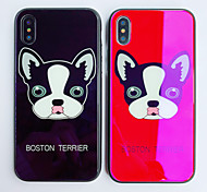 cheap -Case For Apple iPhone X iPhone 8 Shockproof Pattern Back Cover Dog Cartoon Hard Tempered Glass for iPhone X iPhone 8 Plus iPhone 8 iPhone