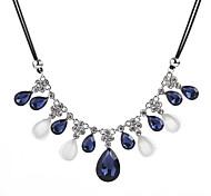 Недорогие -Жен. Свисающие Цирконий Синтетический опал Циркон Опал Заявление ожерелья  -  На каждый день Мода Синий 50+5.5cm Ожерелье Назначение