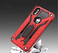 Недорогие -Кейс для Назначение Apple iPhone X iPhone 8 Защита от удара со стендом Кейс на заднюю панель броня Твердый Силикон для iPhone X iPhone 8