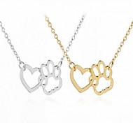 preiswerte -Damen Anhängerketten - Herz Einfach, Modisch Gold, Silber 40 cm Modische Halsketten Für Alltag