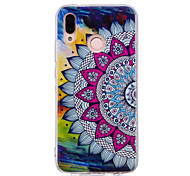 cheap -Case For Huawei P20 lite P20 Pro Glow in the Dark IMD Pattern Back Cover Mandala Shine Soft TPU for Huawei P20 lite Huawei P20 Pro Huawei