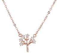 preiswerte -Damen Kubikzirkonia Anhängerketten - Baum des Lebens Europäisch, Modisch Gold, Silber 40 cm Modische Halsketten Für Party, Party / Abend