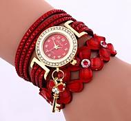 preiswerte -Damen Quartz Armband-Uhr Chinesisch Armbanduhren für den Alltag PU Band Freizeit Modisch Schwarz Weiß Blau Braun Lila Marinenblau