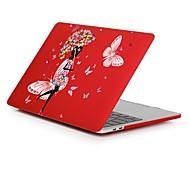 """Недорогие -MacBook Кейс Романтика / Соблазнительная девушка / Цветы пластик для Новый MacBook Pro 15"""" / Новый MacBook Pro 13"""" / MacBook Pro, 15"""