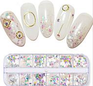 Недорогие -1pcs Пайетки блестит Ультратонкий Несколько цветов На каждый день Дизайн ногтей