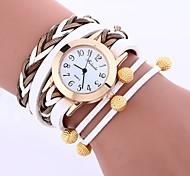 Недорогие -Жен. Кварцевый Наручные часы Китайский Повседневные часы PU Группа На каждый день Мода Черный Белый Синий Красный Серый Роуз