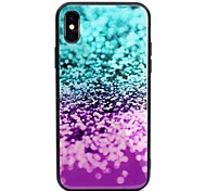cheap -Case For Apple iPhone X iPhone 8 Plus Pattern Back Cover Color Gradient Hard Tempered Glass for iPhone X iPhone 8 Plus iPhone 8 iPhone 7