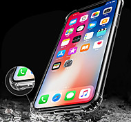 cheap -Case For Apple iPhone X iPhone 8 iPhone 8 Plus iPhone 6 iPhone 6 Plus Shockproof Transparent Back Cover Solid Color Soft TPU for iPhone X