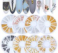 Недорогие -1pcs Стиль Милый Металлические бусинки Украшения для ногтей Аксессуар Декорации Бижутерия Советы для ногтей Инструмент для ногтей наборы