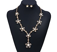cheap -Women's Imitation Pearl Flower Jewelry Set 1 Necklace / Earrings - Formal / Sweet Gold Jewelry Set For Wedding / Ceremony