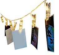Недорогие -1,5 м Гирлянды 10 светодиоды Тёплый белый RGB Декоративная Аккумуляторы AA 1шт