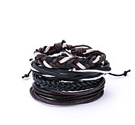 cheap -Men's Wrap Bracelet , Vintage Oversized Leather Black Irregular Jewelry Daily Going out Costume Jewelry