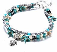 cheap -Women's Strand Bracelet - Turtle, Starfish Ethnic Bracelet Light Blue For Gift / Daily
