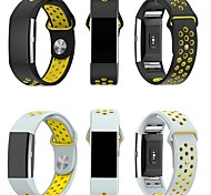 cheap -Watch Band for Fitbit Charge 2 Fitbit Sport Band Milanese Loop Silicone Wrist Strap
