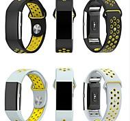 economico -Cinturino per orologio  per Fitbit Charge 2 Fitbit Cinturino sportivo Cinturino a maglia milanese Silicone Custodia con cinturino a