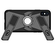 Недорогие -Кейс для Назначение Apple iPhone X / iPhone 8 Кольца-держатели / броня / Игровой случай Кейс на заднюю панель броня Твердый ПК для iPhone