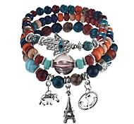 cheap -Stack Strand Bracelet - Elephant Bohemian Bracelet Rainbow / Brown / Red Hamsa Hand For Gift / Daily