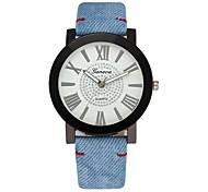Недорогие -Муж. Нарядные часы Китайский Секундомер / Творчество / Крупный циферблат PU Группа Роскошь Синий / Цвета морской волны