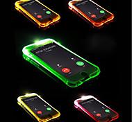 Недорогие -Кейс для Назначение Apple iPhone X / iPhone 8 Plus Мигающая LED подсветка Кейс на заднюю панель Однотонный Мягкий ТПУ для iPhone X /
