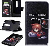 cheap -Case For Nokia Nokia 6 2018 Nokia 5 Card Holder Wallet with Stand Flip Pattern Full Body Cases Word / Phrase Hard PU Leather for Nokia 8