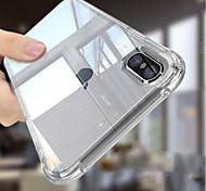 Недорогие -Кейс для Назначение Apple iPhone 6s / Кейс для iPhone 5 Защита от удара / Прозрачный Body Кейс на заднюю панель Однотонный Мягкий ТПУ для