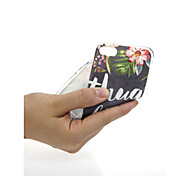 Недорогие -Кейс для Назначение Apple iPhone X / iPhone 7 Ультратонкий / С узором / Милый Кейс на заднюю панель Слова / выражения / Цветы Мягкий ТПУ