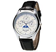 Недорогие -Муж. Кварцевый Нарядные часы Китайский Секундомер / Творчество / Повседневные часы PU Группа Мода Черный / Белый / Коричневый