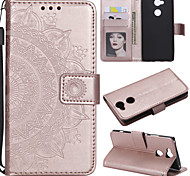 cheap -Case For Sony Xperia L2 Xperia L1 Card Holder Wallet Flip Full Body Cases Flower Hard PU Leather for Sony Xperia Z3 Sony Xperia Z5 Xperia